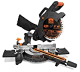 """WEN MM1011 15-Amp 10"""" Single Bevel Compact Sliding Compound Miter Saw with Laser"""