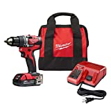 Milwaukee 2801-21P M18 18-Volt Lithium-Ion Compact Brushless Cordless 1/2 in. Drill/Driver Kit