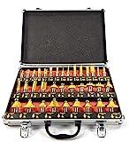 ROUTER BITS 35pc SET 1/4' SHANK Tungsten Carbide Tips, Aluminum Carry Storage Case Multi Piece Kit