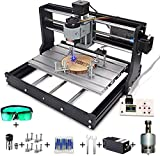 MYSWEETY 2 in 1 5500mW CNC 3018 Pro Engraver Machine, GRBL Control 3 Axis DIY CNC Router Kit with...