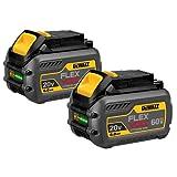 DEWALT 20V/60V MAX Batteries, Premium, 6.0-Ah, 2-Pack (DCB606-2)