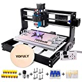 3018 Pro CNC Wood Router Kit with 7W Module, Yofuly GRBL Control 3 Axis DIY CNC Machine, Wood...