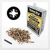 Velocity Interior Wood Screw #8 x 2' DIY Pack - Includes 75QTY Fasteners & 1 PSD ACR Driver Bit