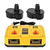 ANTRobut 2Pack 3.5Ah 18V Battery Replacement for Dewalt 18V Battery XRP DC9096 DC9098 DC9099 DW9096...