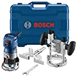Bosch GKF125CEPK Colt 1.25 HP (Max) Variable-Speed Palm Router Combination Kit , Blue, 5.8 x 11 x...