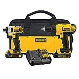 DEWALT 20V Max Cordless Drill Combo Kit, 2-Tool (DCK240C2),Yellow/Black Drill Driver/Impact Combo...