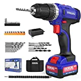 DEREAL Pro Cordless-Drill-Driver-Tools-Set 20V Max Lithium Ion Power Drill Driver Kit Electric...