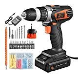MAIBERG Cordless Drill Driver Set, Electric Power Screwdriver Kit with 20V Battery, 1hour Charger,...