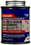 Bondo Rotted Wood Restorer, Penetrates into Spongy, Dry-rotted Wood Fibers Creating a Solid Surface,...