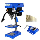 BILT HARD 8 inch 5-Speed Drill Press with Worklight, Benchtop Drill Machine with Drill Vise and Bit...