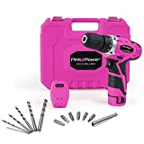 Pink Power PP121LI 12V Cordless Drill & Driver Tool Kit for Women- Tool Case, Lithium Ion Electric...
