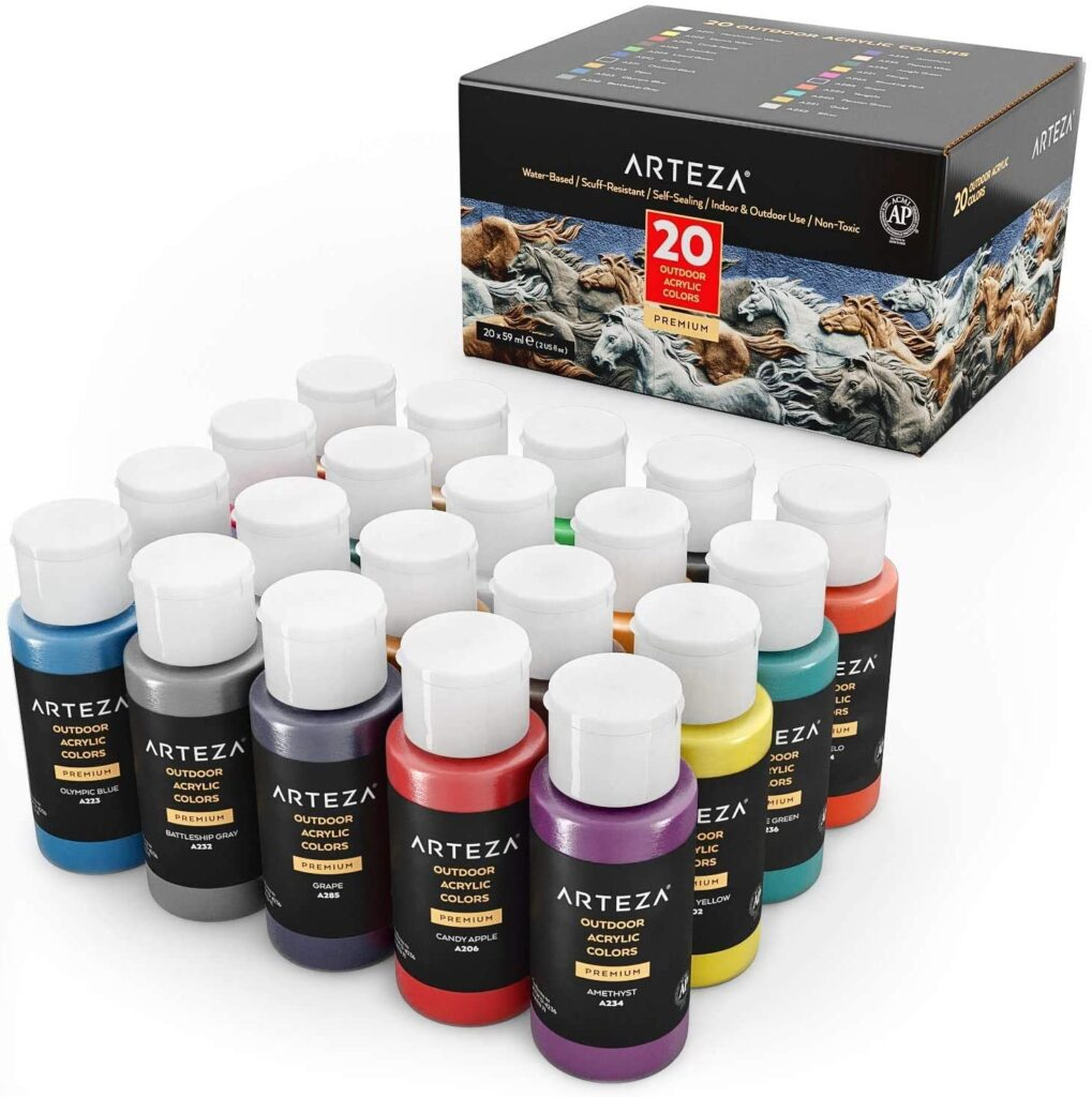 Arteza Outdoor Acrylic Paint