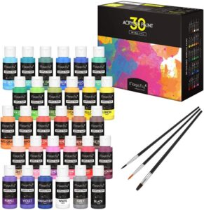 Magicfly 30 Colors Acrylic Paint Set