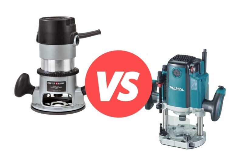 Difference Between a Plunge Router and a Regular Router