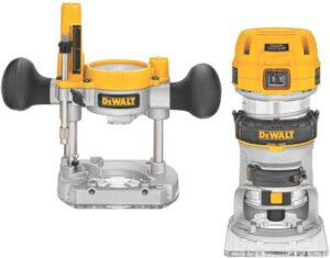 DEWALT Router Fixed/Plunge Base Kit, Variable Speed, 1.25-HP Max Torque